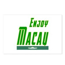 Enjoy Macau Flag Designs Postcards (Package of 8)