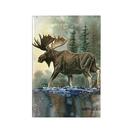 Moose Rectangle Magnet (100 pack)