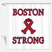 Boston Strong Ribbon Shower Curtain