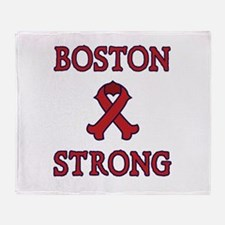 Boston Strong Ribbon Throw Blanket