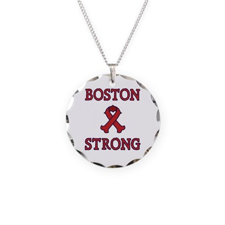 Boston Strong Ribbon Necklace