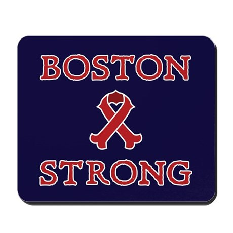 Boston Strong Ribbon Mousepad