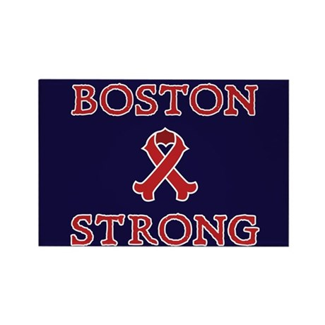 Boston Strong Ribbon Rectangle Magnet (10 pack)