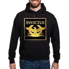 Invictus Gold Eagle on Black Hoodie