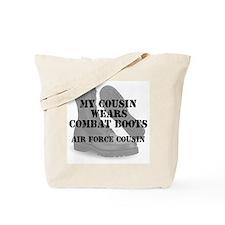 AF Cousin wears CB Tote Bag