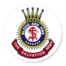 Salvation Army Crest Round Car Magnet
