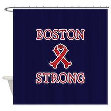 Boston Strong Ribbon Shower Curtain