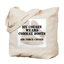 AF Cousin wears DCB Tote Bag