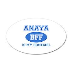 Anaya is my home girl bff designs 35x21 Oval Wall