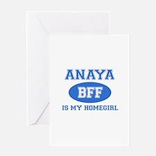 Anaya is my home girl bff designs Greeting Card