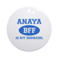 Anaya is my home girl bff designs Ornament (Round)