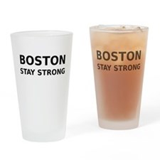 Boston Stay Strong Drinking Glass