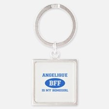 Angelique is my home girl bff designs Square Keych