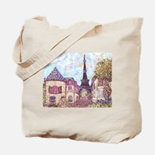 ParisCityscapePointillism021511.jpg Tote Bag