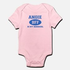 Angie is my home girl bff designs Infant Bodysuit