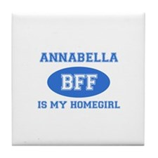 Annabella is my home girl bff designs Tile Coaster