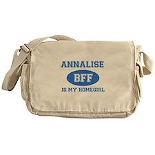 Annalise is my home girl bff designs Messenger Bag