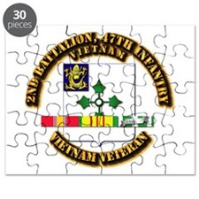 Army - 2nd Bn, 47th Infantry w SVC Ribbons Puzzle