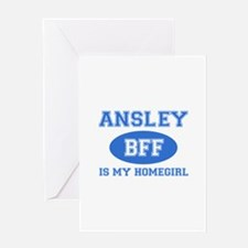Ansley is my home girl bff designs Greeting Card