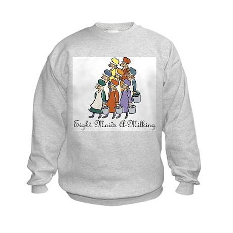 Eighth Day of Christmas Kids Sweatshirt