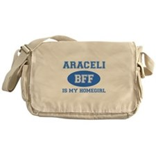 Araceli is my home girl bff designs Messenger Bag