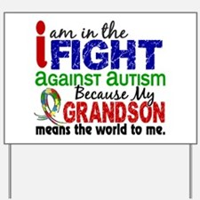 In The Fight 2 Autism Yard Sign