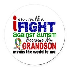 In The Fight 2 Autism Round Car Magnet