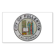 City of Fullerton, California Sticker (Rectangular