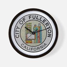 City of Fullerton, California Wall Clock