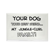 Jungle Curl Cat designs Rectangle Magnet