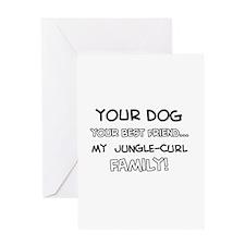 Jungle Curl Cat designs Greeting Card