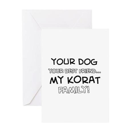Korat Cat designs Greeting Card