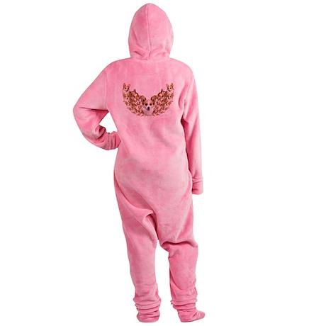 Geo Corgi Dott Wings Footed Pajamas