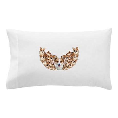 Geo Corgi Dott Wings Pillow Case