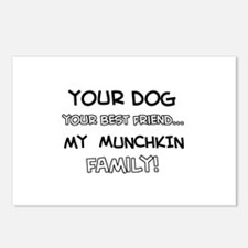 Munchkin Cat designs Postcards (Package of 8)