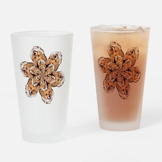 Geo Corgi OC Flower Drinking Glass