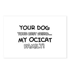 Ocicat Cat designs Postcards (Package of 8)