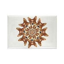 Geo Corgi 8 pip Rectangle Magnet