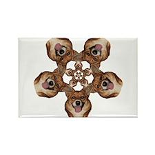 Geo Mercy Flower 5 Rectangle Magnet