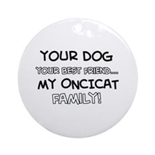 Oncicat Cat designs Ornament (Round)