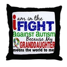 In The Fight 2 Autism Throw Pillow