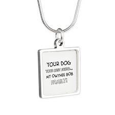 Owyhee Bob Cat designs Silver Square Necklace