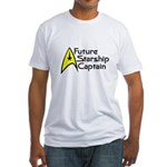 Future Starship Captain Fitted T-Shirt