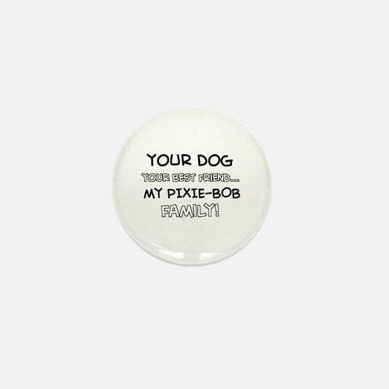Pixie Bob Cat designs Mini Button