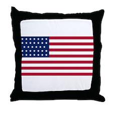 US - 34 Stars Flag Throw Pillow