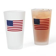 US - 34 Stars Flag Drinking Glass