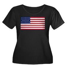 US - 34 Stars Flag Plus Size T-Shirt