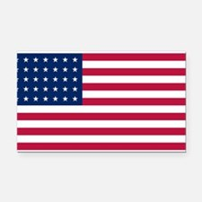 US - 35 Stars Flag Rectangle Car Magnet
