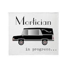 Mortician in progress Throw Blanket