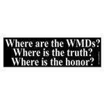 Where? Where? Where? Bumper Sticker